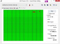 Samsung HD103SI 1000,2 GB - Widoczne uszkodzenia w HDTune. Z�y stan dysku w CDI.