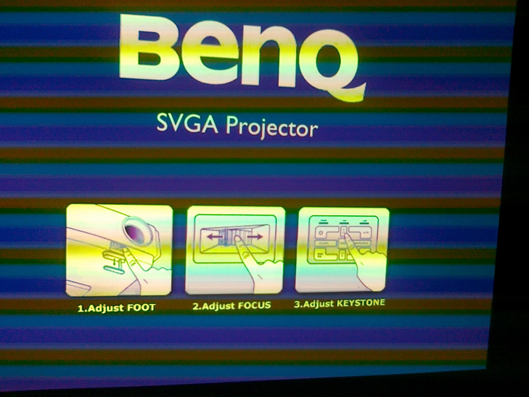 Projektor BENQ MP-615P zawiesza si� na ekranie startowym [VIDEO]
