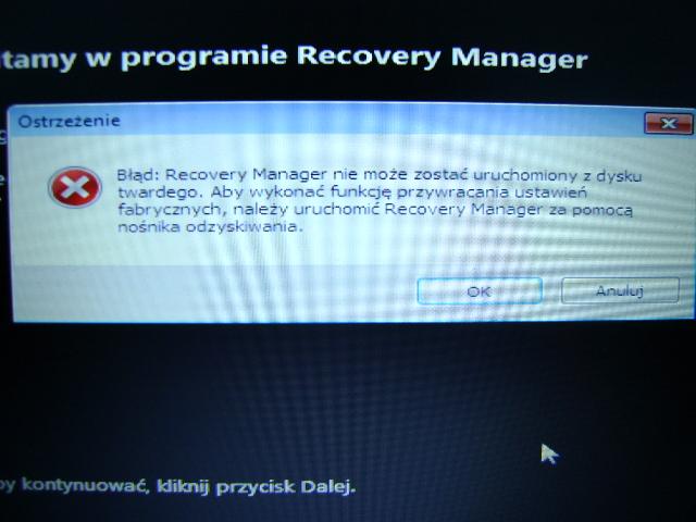 Presario CQ56-115SW - partycja Recovery - nie dzia�a