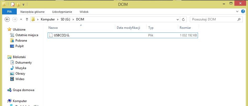 Karta SD - Dziwna nazwa folderu i znikni�cie plik�w