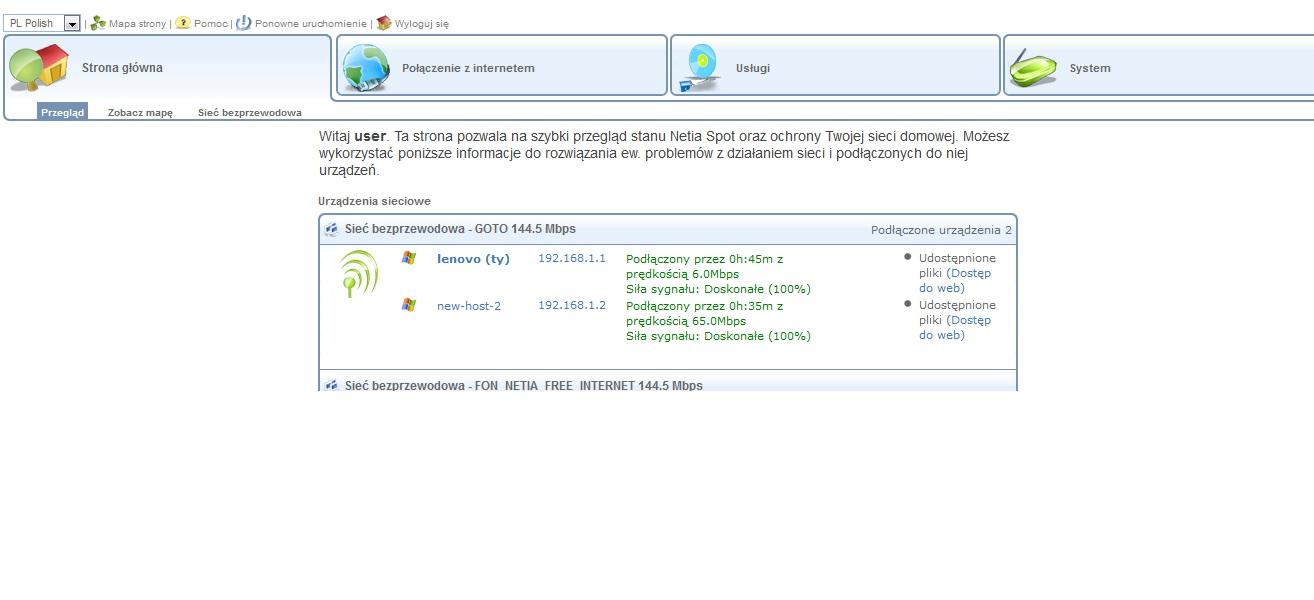 Netia , dwa laptopy, 1.down 50 mbs,upl.37mbs ; 2.down 3.5mbs upl. 0,5 brak pingu