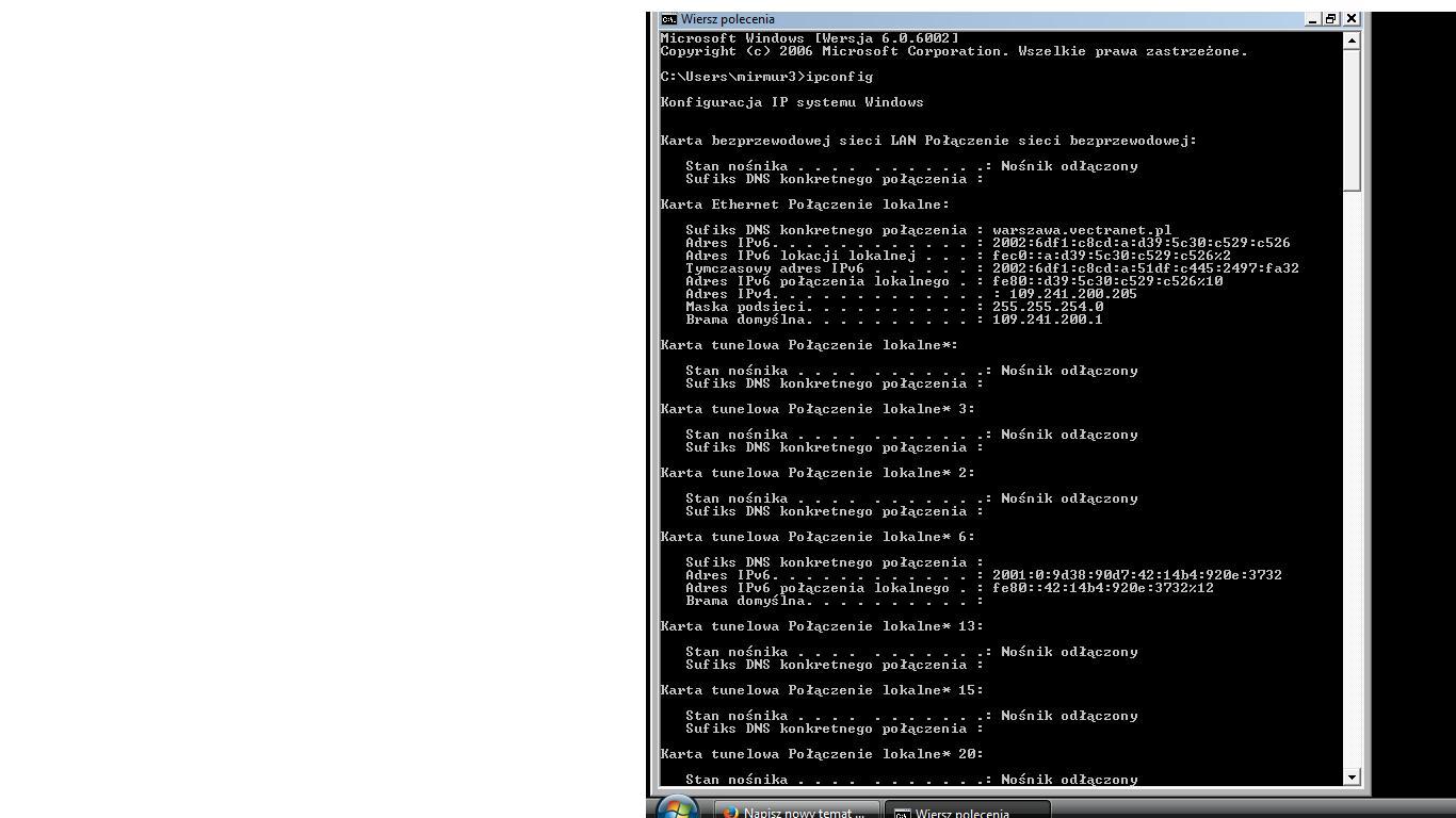 router Tenda W316r - nie mog� skonfigurowa� i si� po��czy� przez wifi