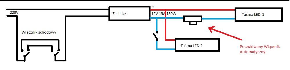 Pod��czenie Ta�my LED (w��cznik automatyczny)