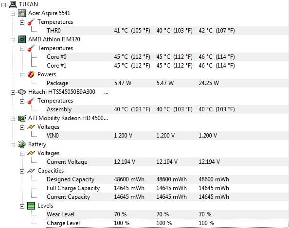 Acer aspire 5541G - Wy��cza si� po ok 30 minutach