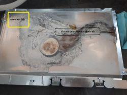 Zmywarka Whirlpool ADG9556/1 - suszenie-przeciek i gumy mocujące pompę.