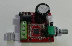 Class D PAM8610 15V 2x10W amplifier module test