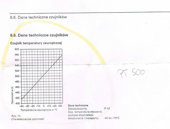 Czujnik (termistor) temp. zewn�trznej kocio� olejowy viessmann (schemat)