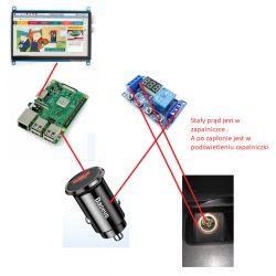 Raspberry Pi 3B - Zasilanie w samochodzie