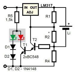 prośba o pomoc w doborze rezystorów - ładowarka na lm317 i tranzystorach