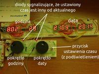 Planetarny wehikuł czasu - zegar z globusem (prototyp)