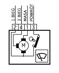 Silnik wycieraczek - podłączenie