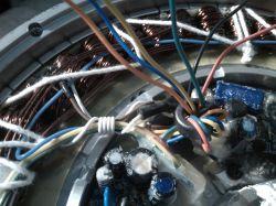 Silnik elektryczny do roweru BLDC 36v 250W przerobka 2 fazy na 3 fazy