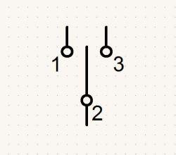 W jaki sposób narysować połączenie woltomierza do przełącznika trójstanowego?