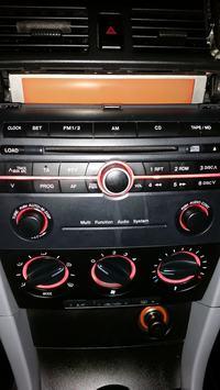 Mazda 3 2004r - Multi function audio system - świeci się na pomarańczowo