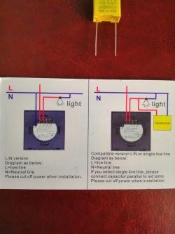 Włącznik światła WiFi, podłączenie