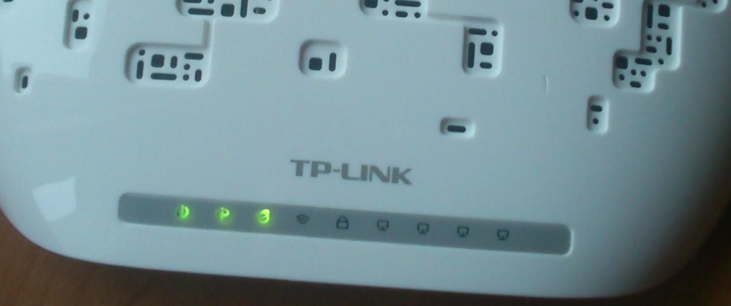 Tp-Link TD-W8951ND - nie da sie skonfigurowac, pal� sie 3 diody caly czas