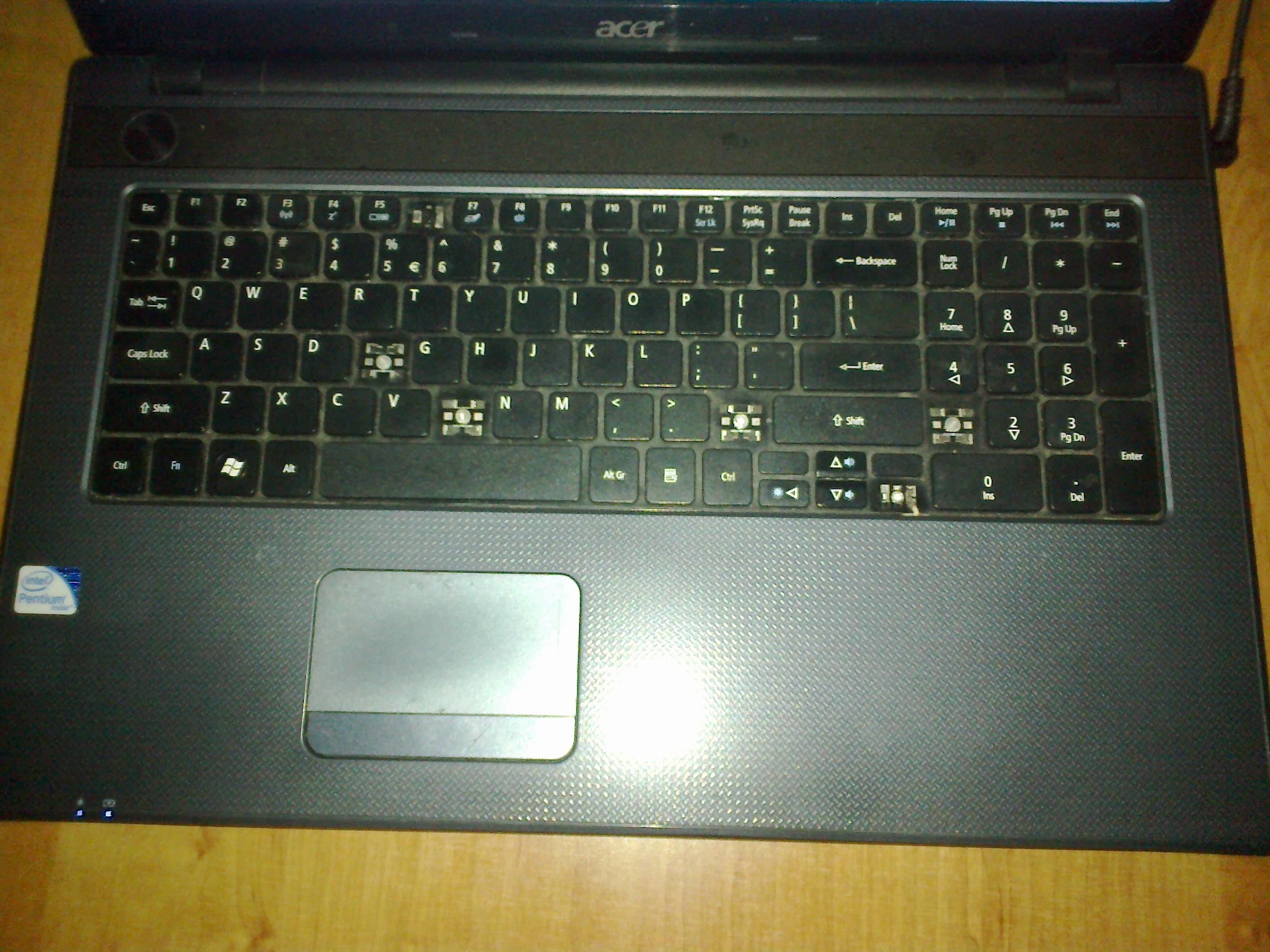Laptop Acer Aspire 7739ZG   - Usterka klawiatury
