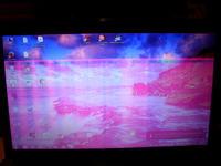 Laptop Lenovo G780 ekran podświetla na różowo, czy to taśma popsuta?