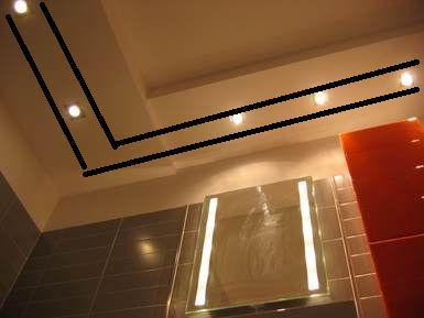 Oświetlenie sufitowe lampami halogenowymi