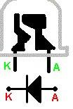 W którą strone LED. Która nóżka jest która? Poprawnie włożona?