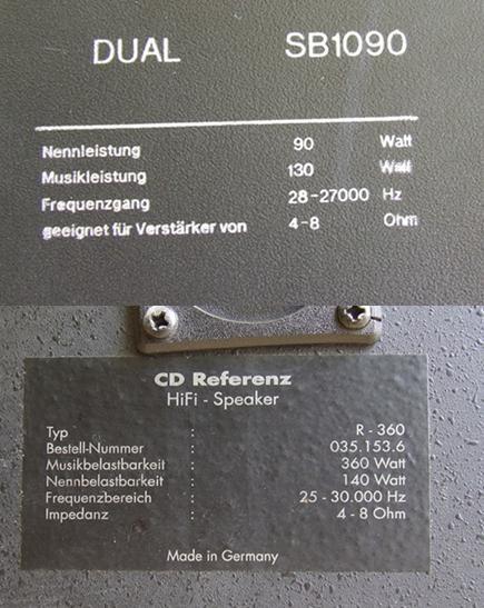 dziwne impedancje kolumn i głośników