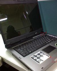 Zalany laptop Asus A6000, czyszczenie nie pomogło