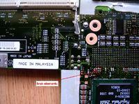 IBM 600x - brakujące elementy na płycie głównej