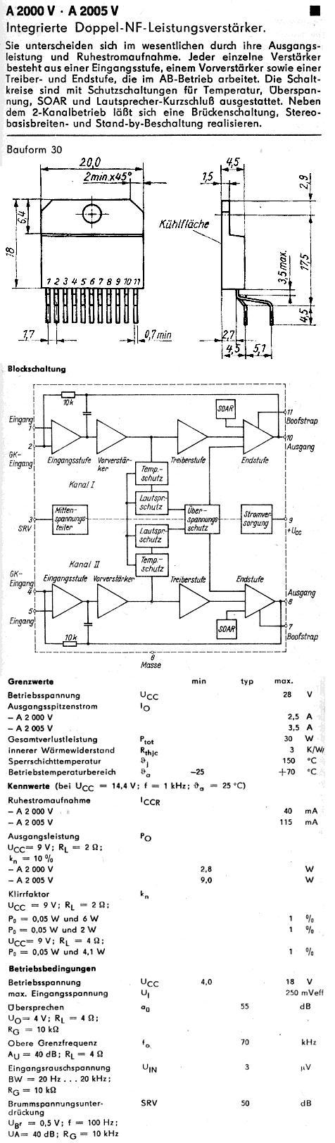 Poszukuję noty katalogowej układu scalonego audio A2000Vm