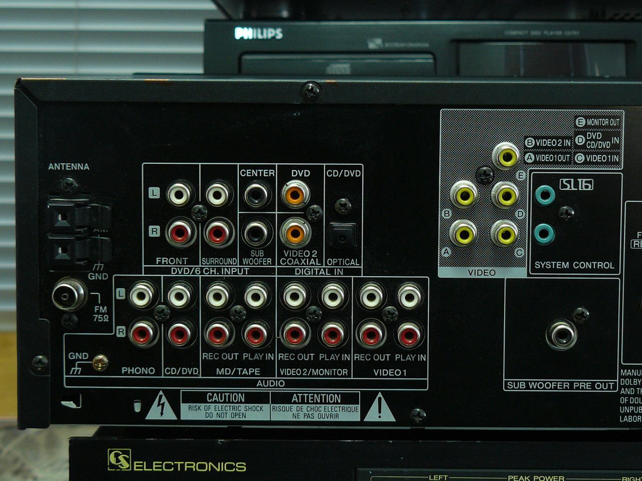 KENWOOD KRF-V5030D  problem z konfiguracia coaxial