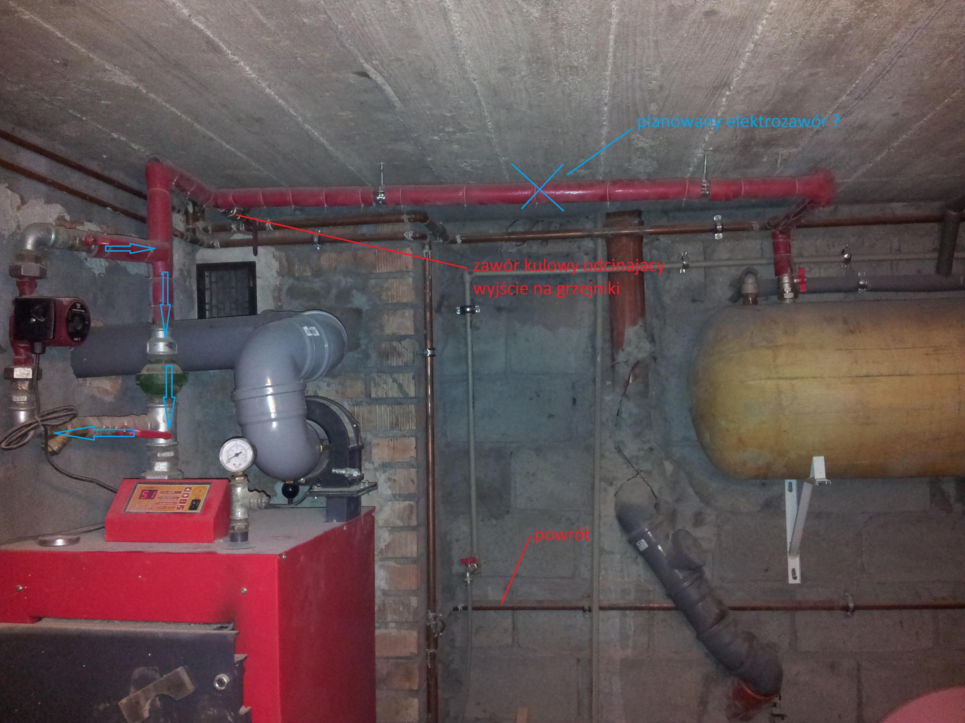 Chwalebne Piec Defro 15 KW - Wychładzająca się woda w bojlerze ,gdzie jaki HM86