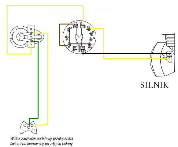 WSK 125 - Jak podpiac kable �eby zrobi� gaszenie i �wiat�a?