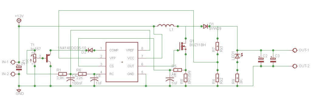 Zrobiłem przetwornice jakieś 1,5 roku temu step-up na UC3843 ze schematu z elektrody do laptopa...