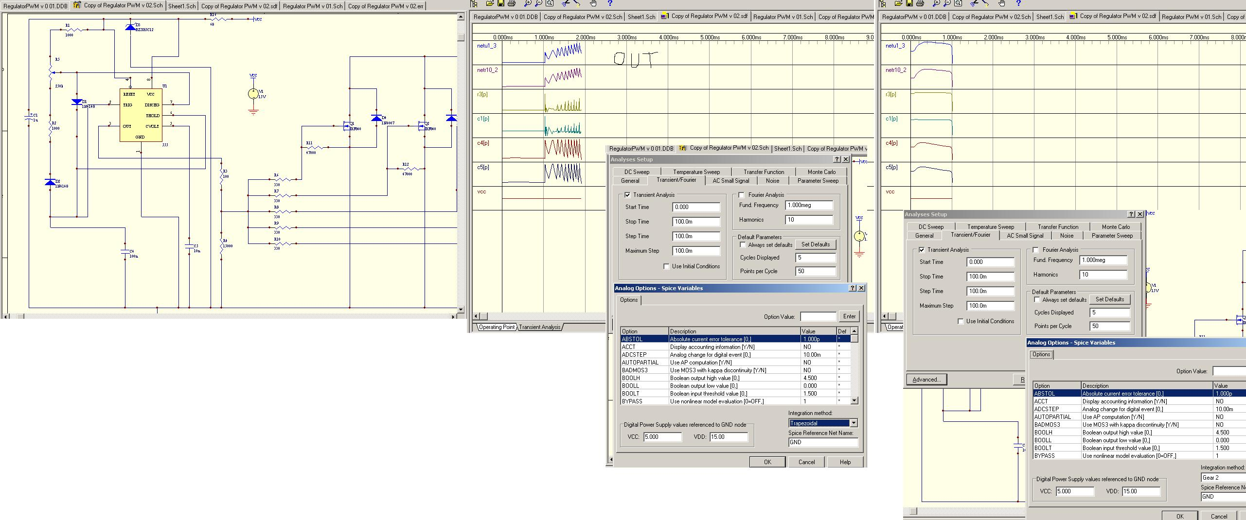 PWM na ne555 - Regulator PWM na uk�adzie ne555 - jak ustawi� amplitu�