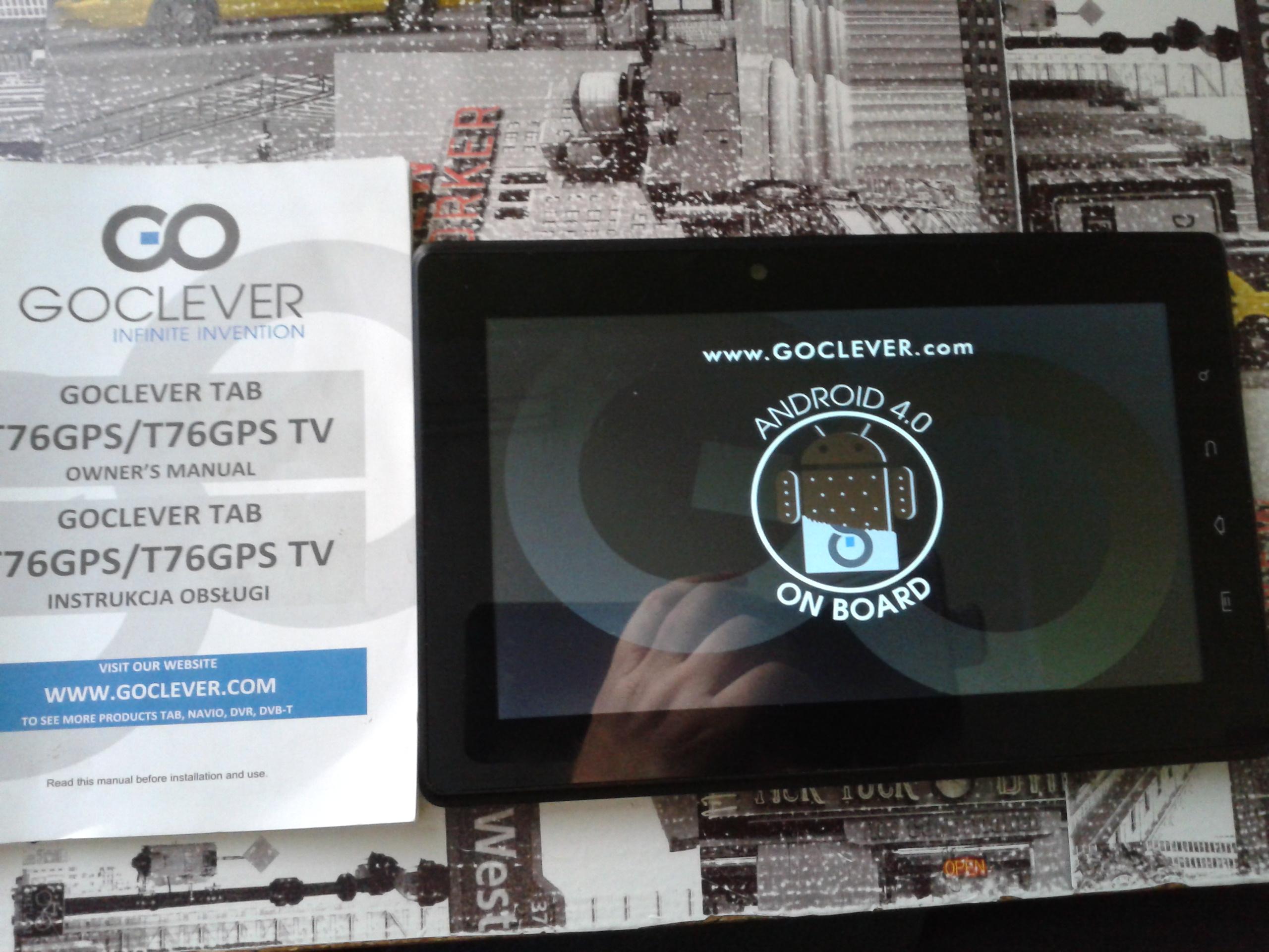 Goclever T76GPS TV - NIE URUCHAMIA SI� DO KO�CA