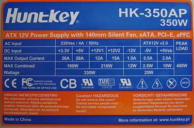 Huntkey model: HK-350AP - co� w nim �wiszczy ?
