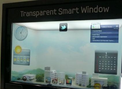 Samsung Smart Window - transparentny wyświetlacz zamiast okna