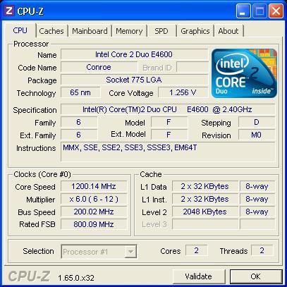 Remont komputera na Intel Core 2 Duo E4600.
