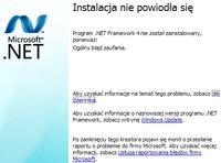 """Instalacja .Net framework 4.0 """"Ogólny błąd zaufania""""."""