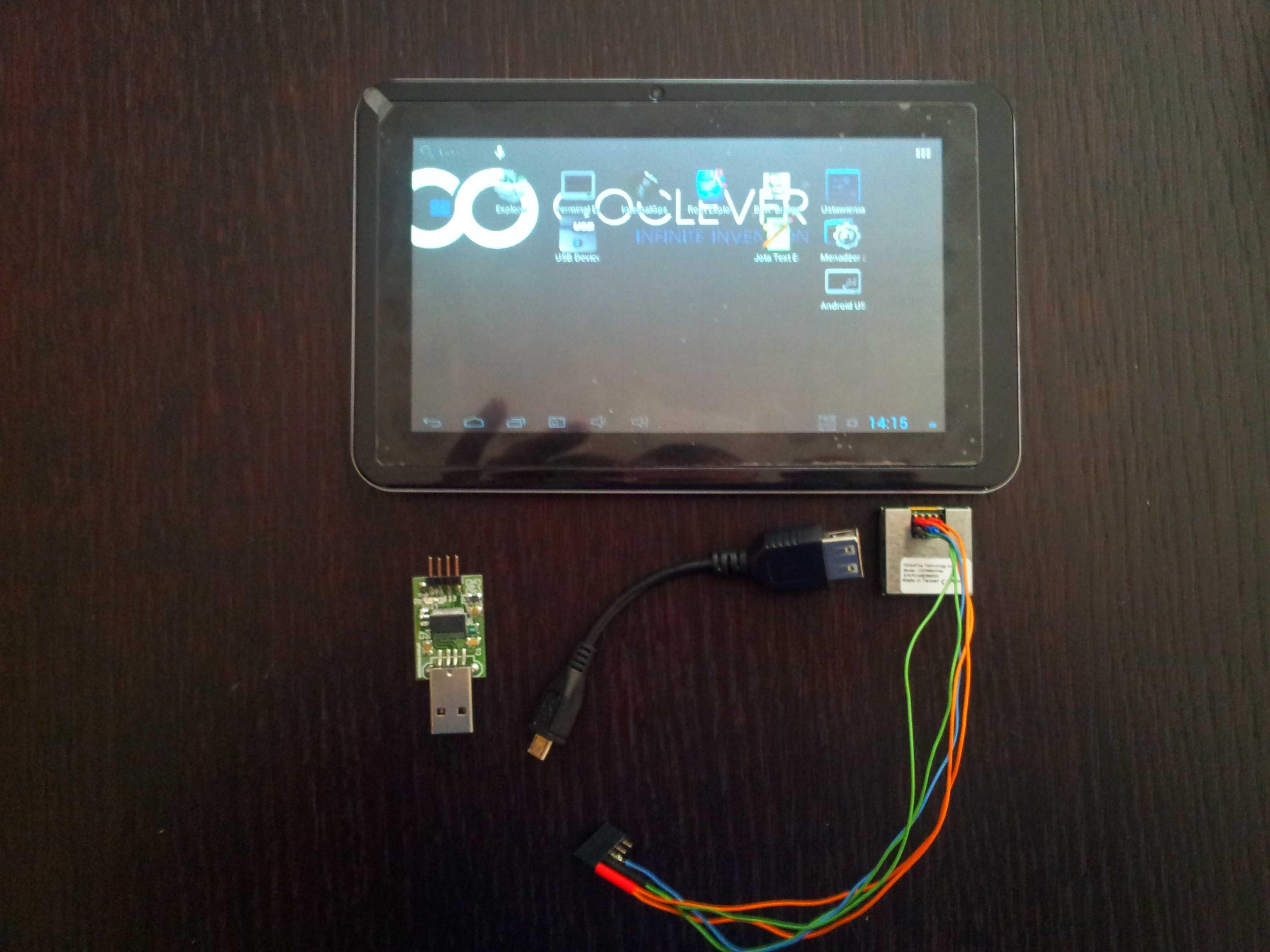 USB-GPS na Tablety Android pozbawione wewnetrznego odbiornika GPS