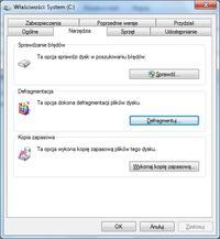 Optymalizacja dysku twardego w systemie Windows 7