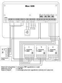 System alarmowy  Mac608 Centralka + 3 czujki PIR (Satel Amber) + sygnalizator