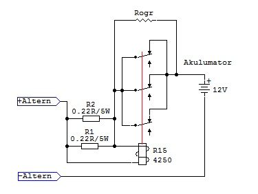 Agregat z zastosowaniem alternatora