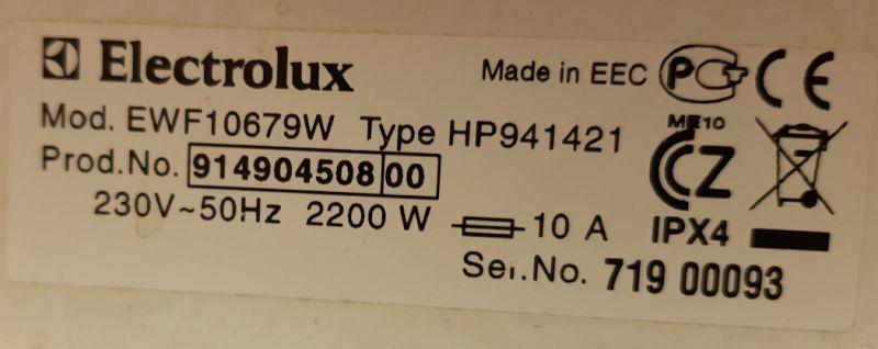 Pralka Electrolux EWF10679W - Nie grzeje wody
