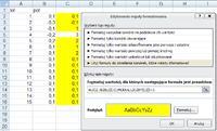 Excel 2010 - wyszukiwanie takich samych wartosci dodatnich i ujemnych