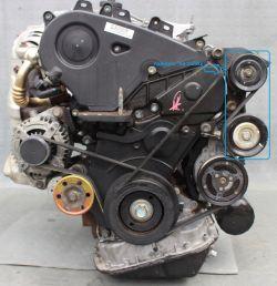 hałas z pasków wieloklinowych - Corolla E12 2.0 d4d 2004r silnik 1CD