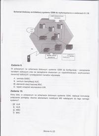 Egzamin zawodowy Technik Telekomunikacji - skany zadań pytania