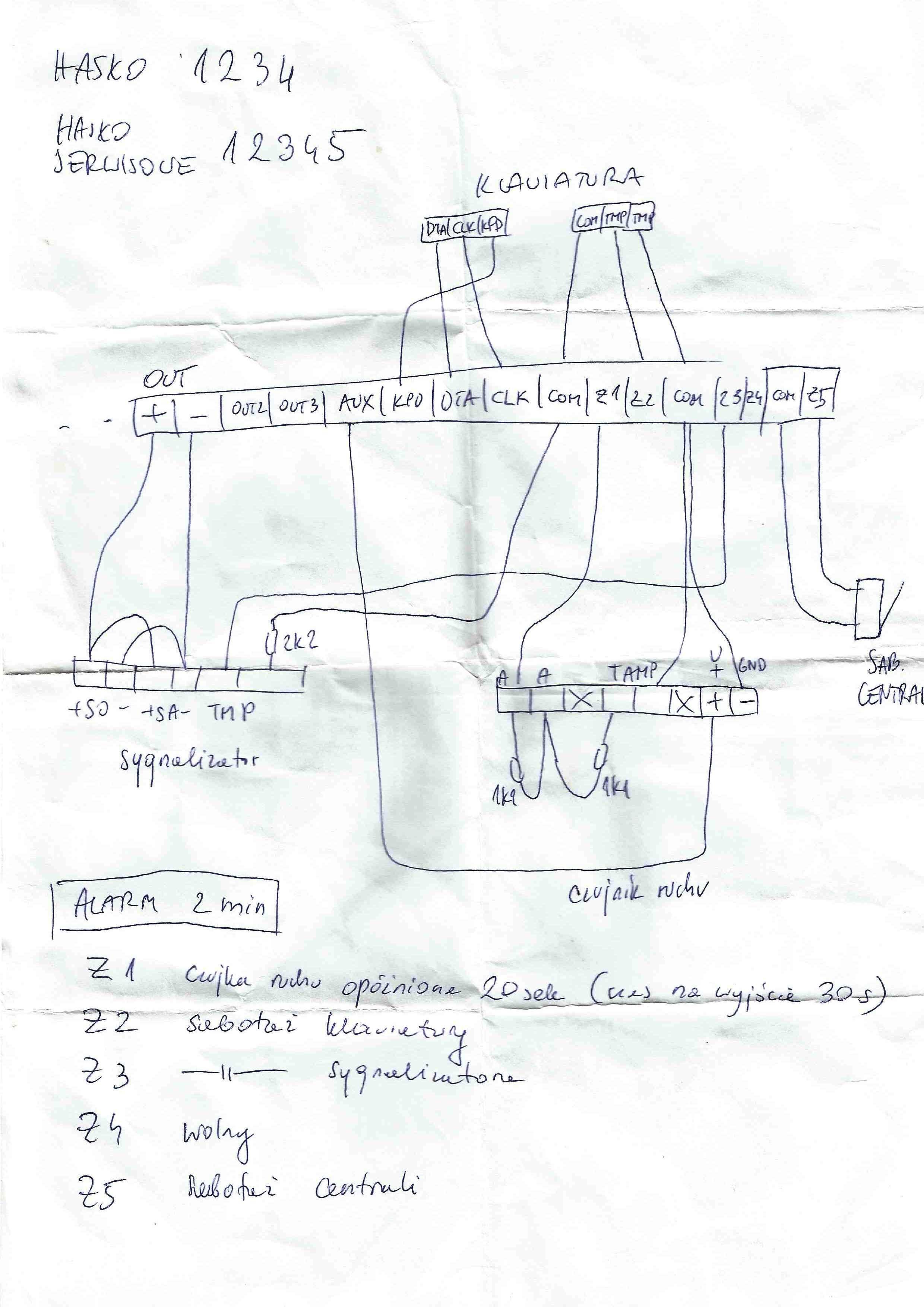 Satel CA-5 - Pro�ba o sprawdzenie schematu