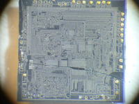 Fotografie struktur układów scalonych