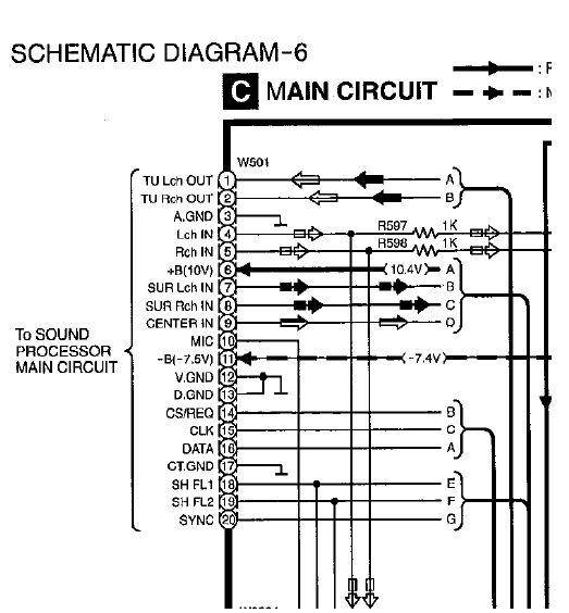 Jak pod��czyc zasilanie do procesora d�wi�ku?