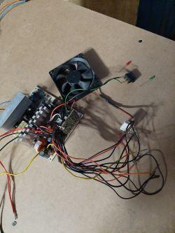 Oświetlenie 2 diod LED po przełączeniu włącznika.